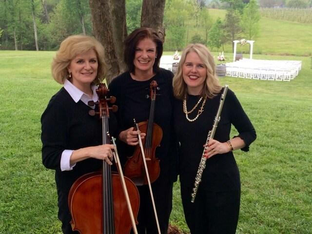 Classical flute violin cello wedding ceremony