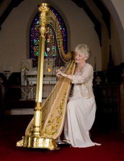 Harp flute classical pedal harp